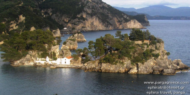 island of parga link to hotels and  apartments list